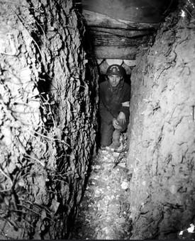 US Engineer inside German Trench