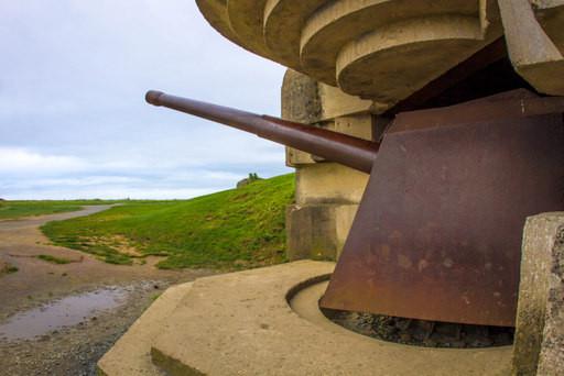 Big guns at the battery of Longues-sur-Mer