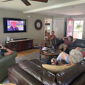Family watching LIVE tour