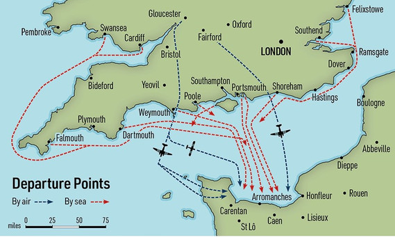 Operation Neptune Route Map