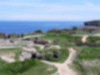 Pointe du Hoc cratered landscape