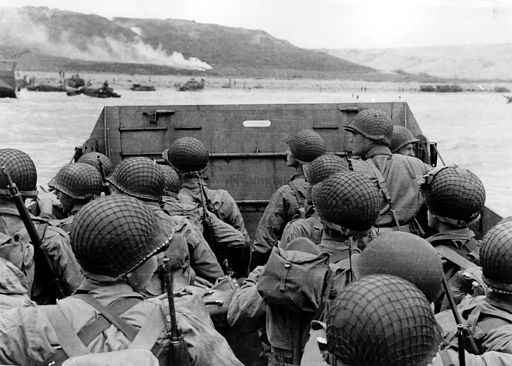 Normandy Invasion 6 June 1944, Approaching Omaha Beach