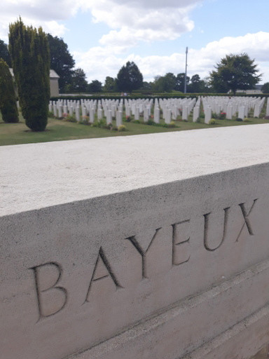The British & Commonwealth cemetery in Bayeux