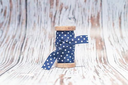 navy/grey spot ribbon