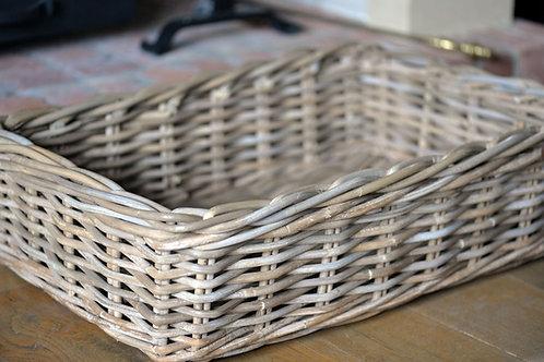 rectangular rattan dog basket