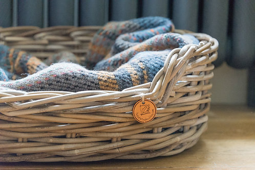 oval rattan dog basket