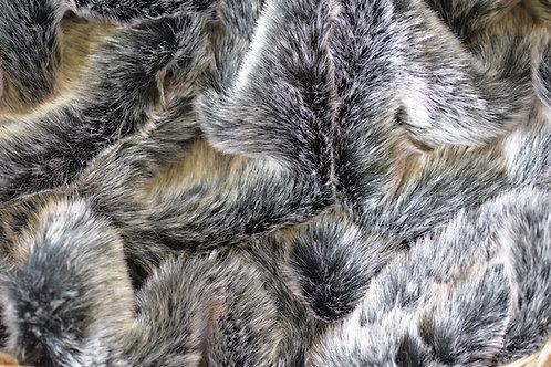 faux fur throw - grey