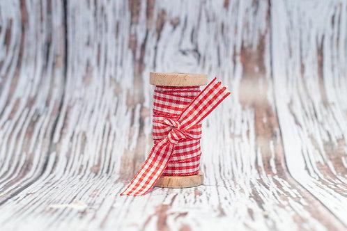 red gingham ribbon