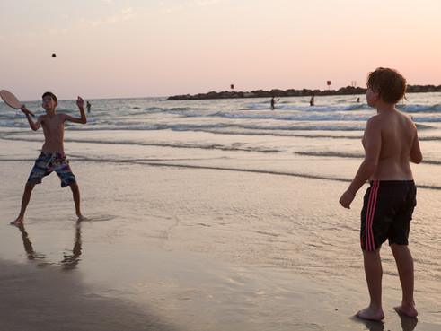 צילום בחוף של תל אביב