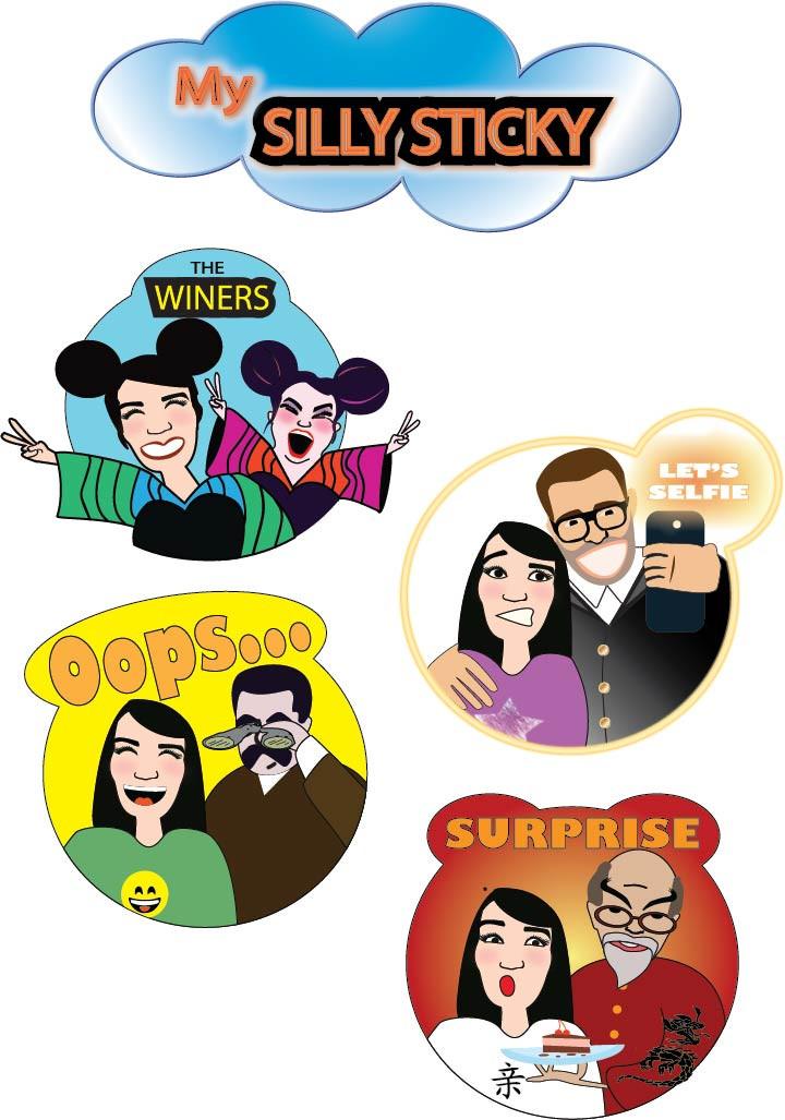 עיצוב סטיקרים לפייסבוק מסנג׳ר בסדנת איור