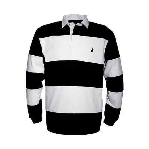 Solid Striped Long Sleeves Polo