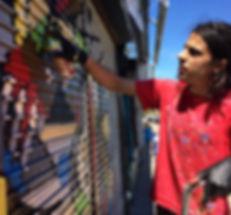 Andre decolife streetart works London Brasil spray paint Penge East