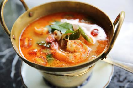 soupe Tom Yam thaïlandaise