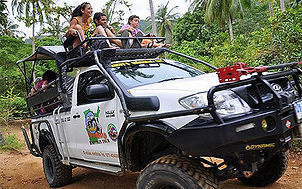 jeep 4x4 tout-terrain, excursion koh samui