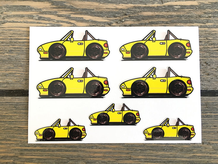 CMC NA Small Decals 7 Piece Yellow