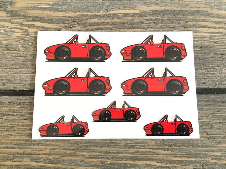 CMC NA Small Decals 7 Piece Red