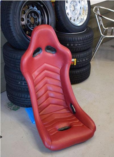 PRE-ORDER Corn's Original Red Leather Seat Chevron Type