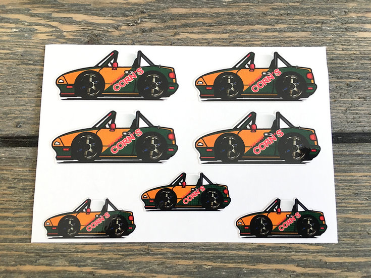 CMC NA Small Decals 7 Piece Shop Race Car