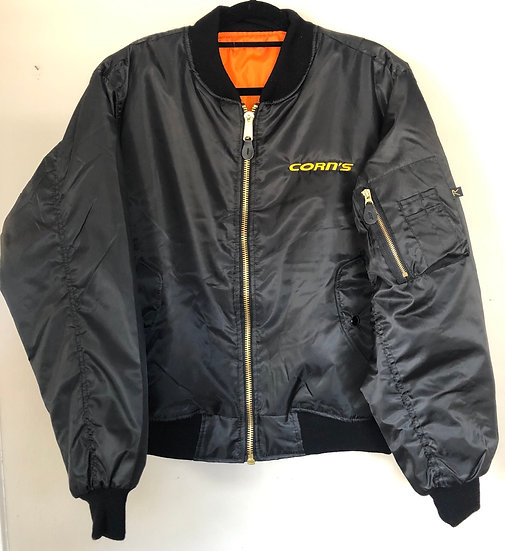 Heavy Weight Bomber Jacket with Side Zipper