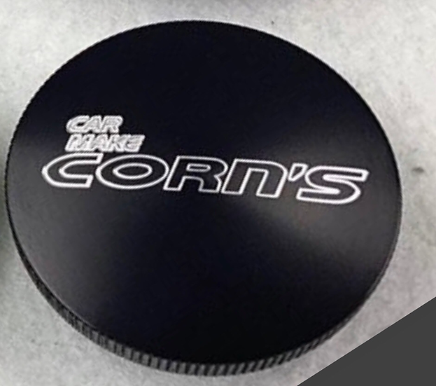 Car Make Corn's Orginal Billet Aluminum Oil Fill Cap Black Finish