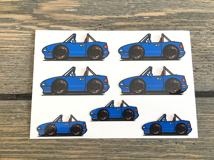 CMC NA Small Decals 7 Piece Blue