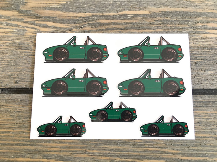 CMC NA Small Decals 7 Piece Green