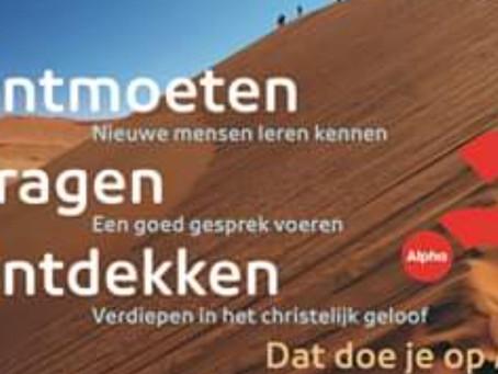 Alpha cursus in Broek op Langedijk start 9 september