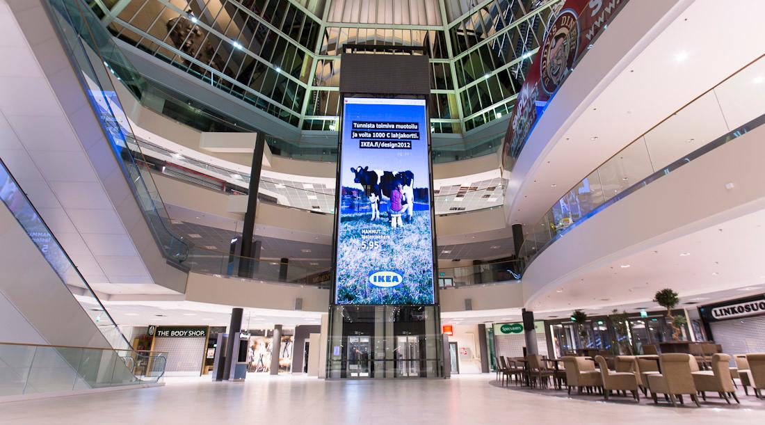 P12.5 LED-näyttö kauppakeskuksen keskusa