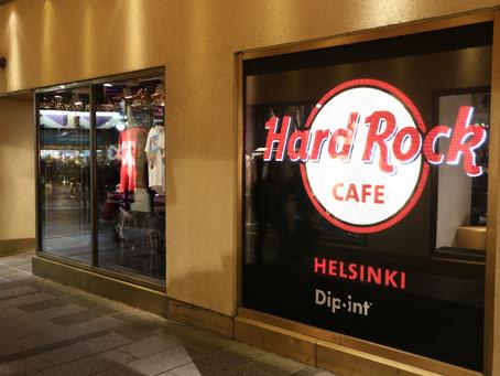 Hard Rock Cafe näyteikkunaan saumaton LED-näyttö