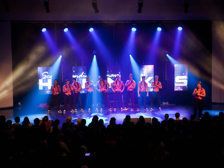DiLED® E10 LED-videoseinä Scandinavian Hunks -teatterikiertueella