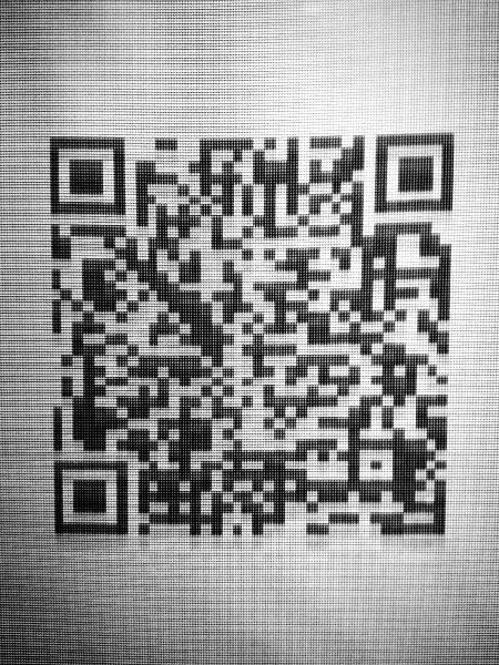 QR-koodi infonäytössä