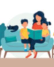mom-reading-for-kids-family-sitting-on-t