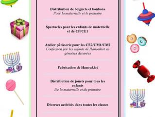 Semaine festive de Hanouka 2020