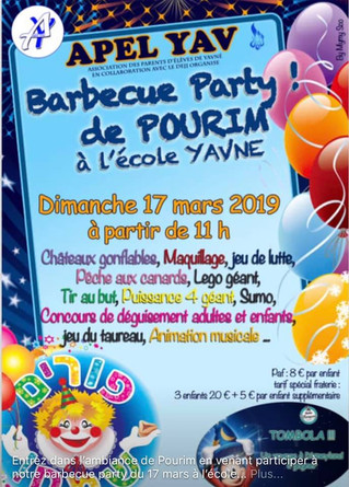 Pourim à l'école YAVNE, Dimanche 17 mars 2019