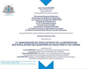 77e Anniversaires de l'évacuation et de la déportation des populations des quartiers du Vieux-po