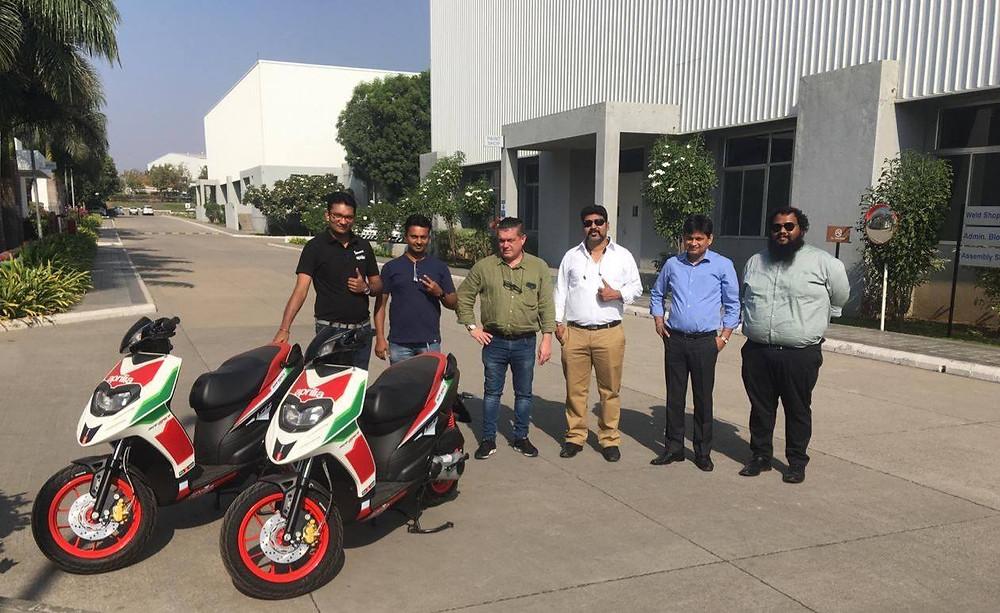 Barrel Exhaust team invited to Aprilia manufacturing plant