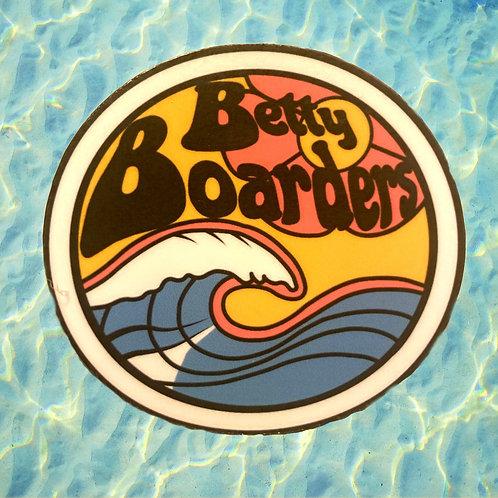 Betty Boarders Logo Sticker