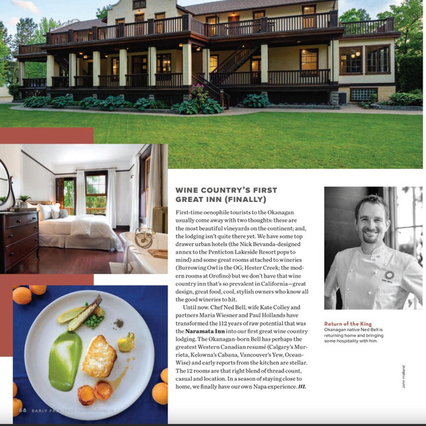Western Living - Wine Country's First Great Inn (Finally)