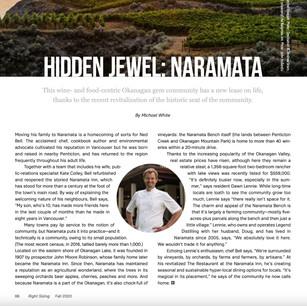 Right Sizing, Globe & Mail insert - Hidden Jewel Naramata