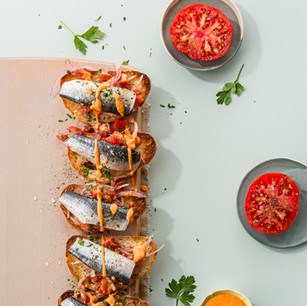 Sardines On Toast With Tomato Relish