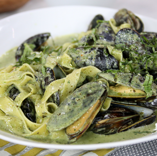 Mussels and Kelp Pappardelle