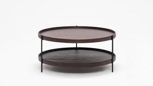Sage Circular Coffee Table - Smoked Oak
