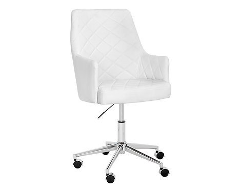 Chaise Office Chair - White