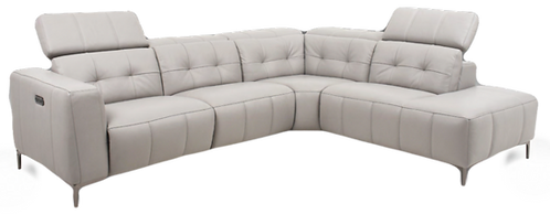 Florance Leather Sectional/Recliner