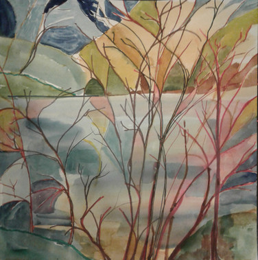 Niagara River Stained Glass Landscape