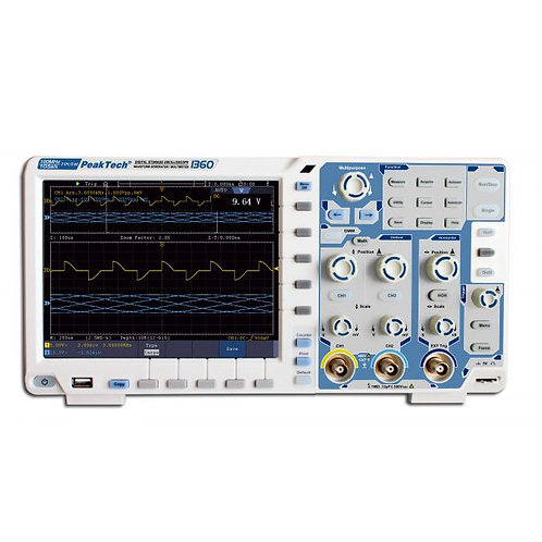 Peaktech P1360 Oscilloscope - 100 MHz / 2 CH, 1 GS/s and Touchscreen
