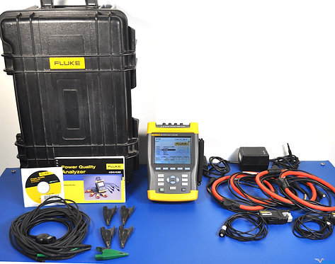 Fluke 435 Power Analyzer PQA with i430-Flexi AC Current Clamps - NIST Calibrated