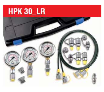 LR-Smart Tech HPK-30 Hydraulic Test Case with x3 Analogue Gauges 0 - 5800 PSI