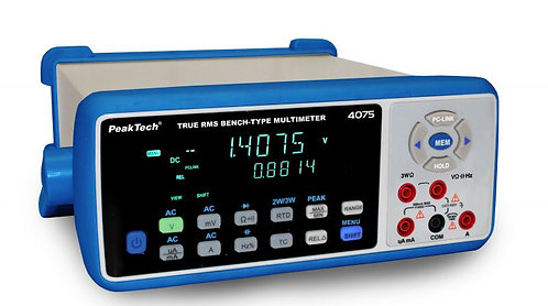 Peaktech P4075 Benchtop Multimeter 4 5/6 Digits True RMS 1000V 10A