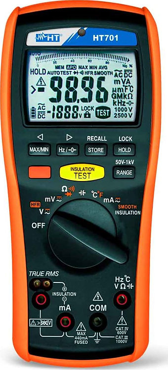 HT Instruments HT701 Professional TRMS Multimeter and Insulation Meter